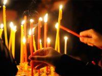 Свечки в храме