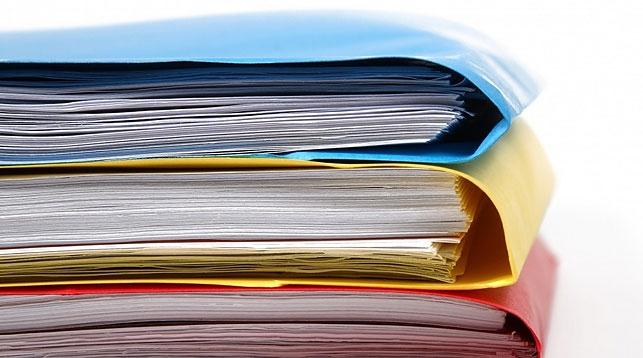 Папки с бумагами