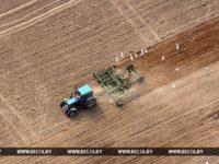 Белта трактор пашет