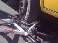 Вело под колесом